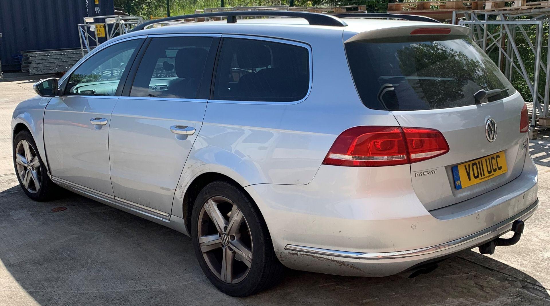 Lot 5 - VOLKSWAGEN PASSAT 2.0 SE BLUE MOTION TECH T - diesel - silver Reg. No: VO11 UCC Rec.
