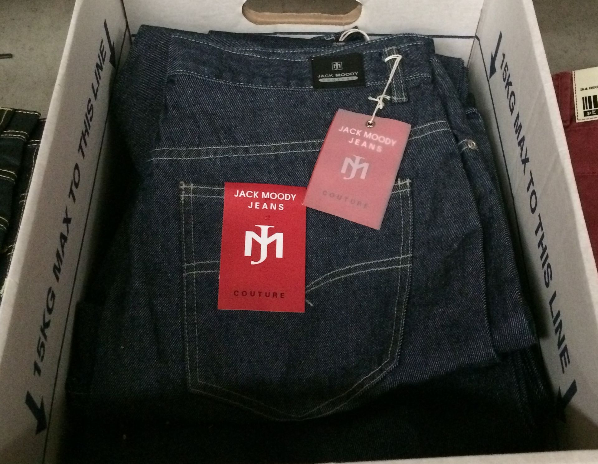 Lot 7 - 10 x pairs of blue denim jeans by Jack Moody - sizes 30, 32, 34,