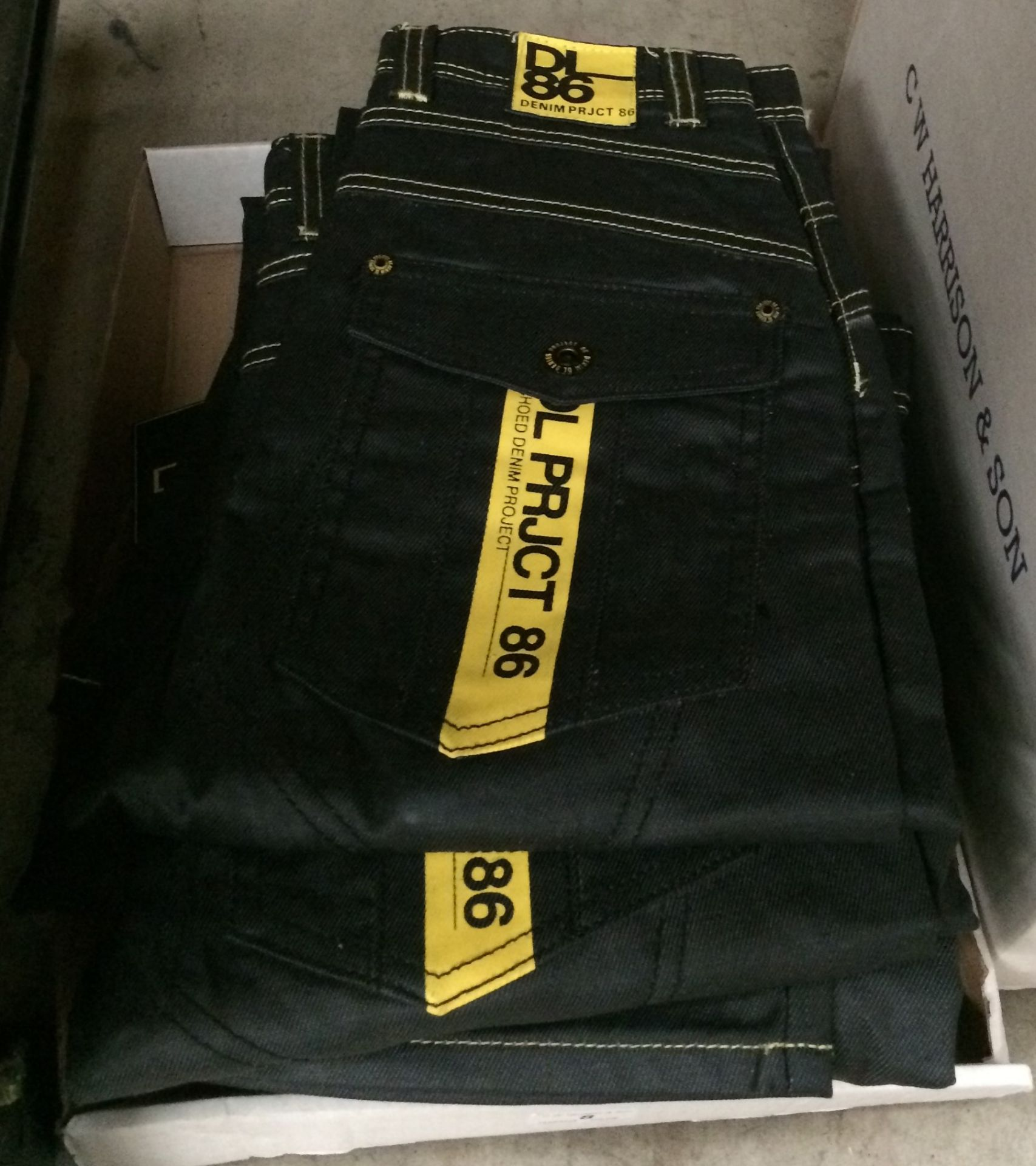 Lot 8 - 10 x pairs of black jeans by D L Project 86 - sizes Junior 24, 25, 26,