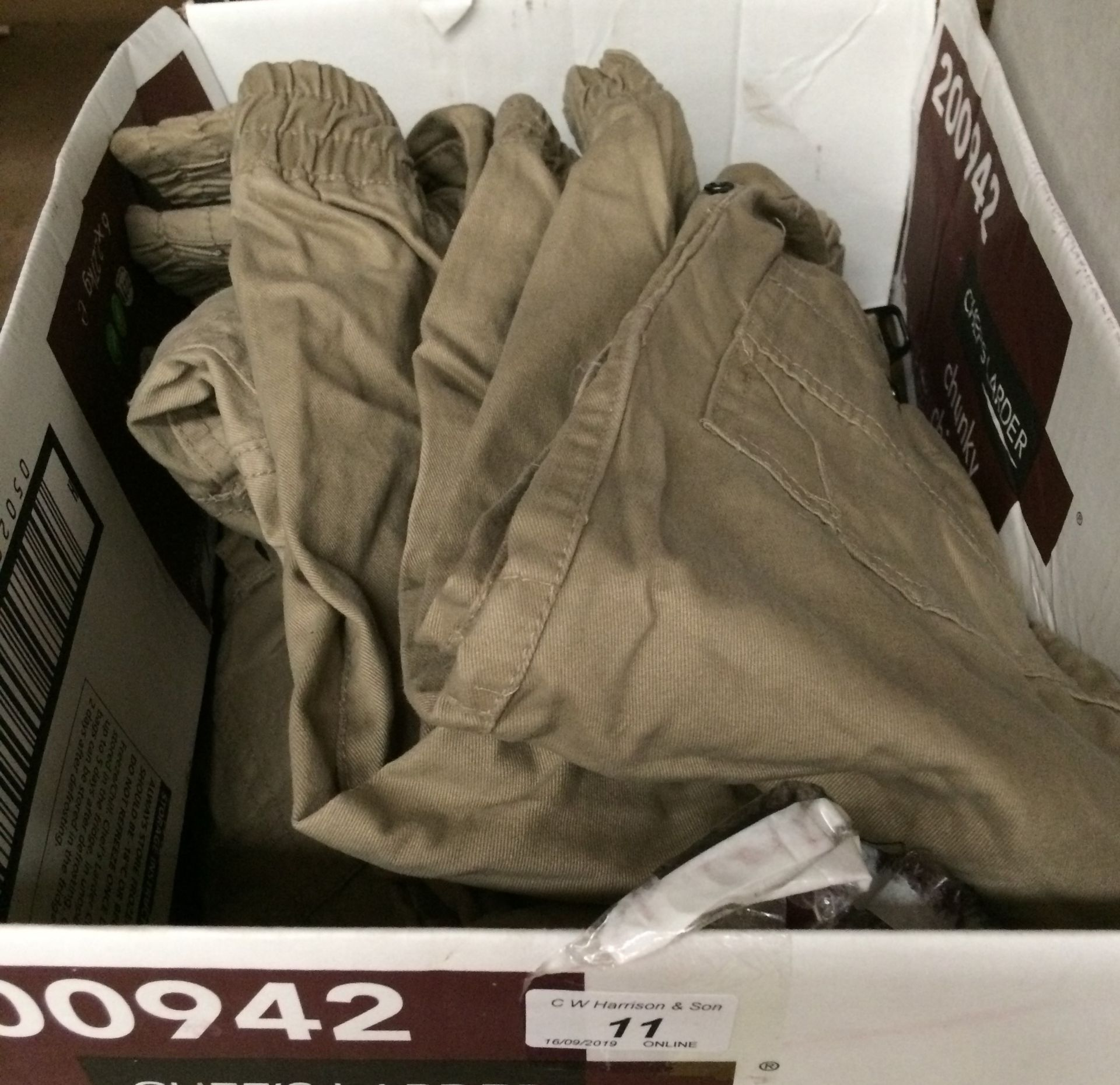Lot 11 - 10 x pairs of boys chino style trousers by DL086 - waist sizes 20, 22, 24,