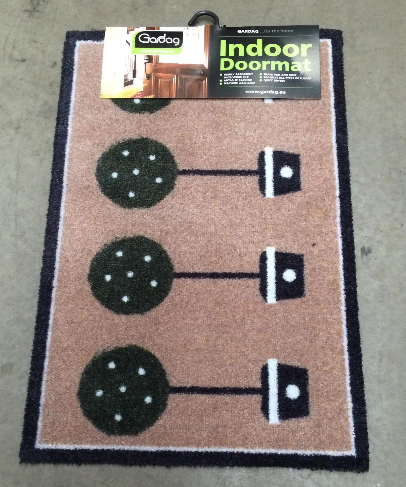 Lot 6 - 6 x Gardag Eco Flex designer topiary indoor door mats each 50 x 75cm