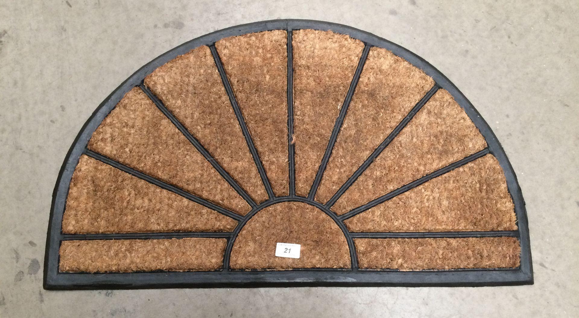 Lot 21 - 5 x Sunburst door mats each 45 x 75cm