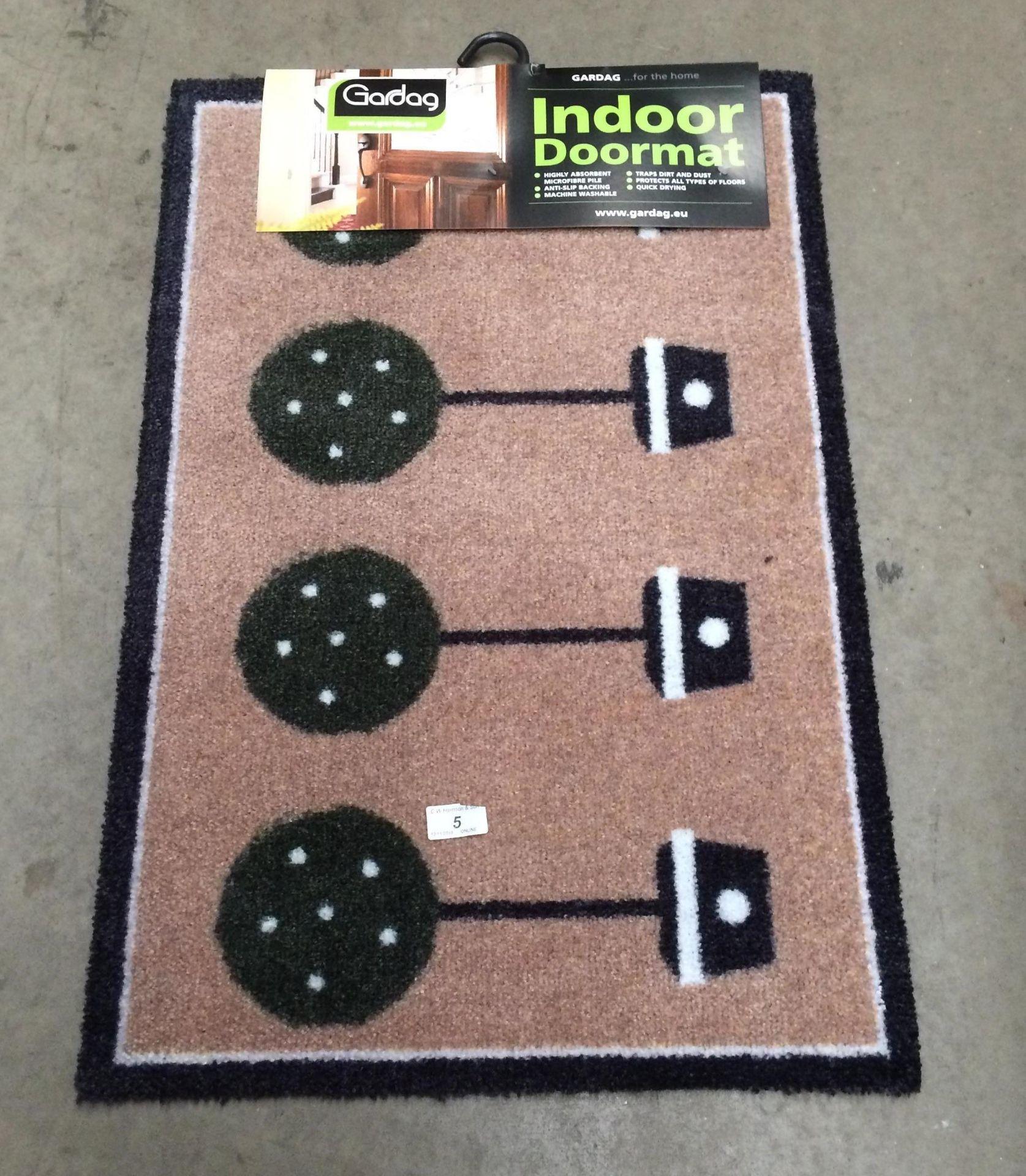 Lot 5 - 6 x Gardag Eco Flex designer topiary indoor door mats each 50 x 75cm