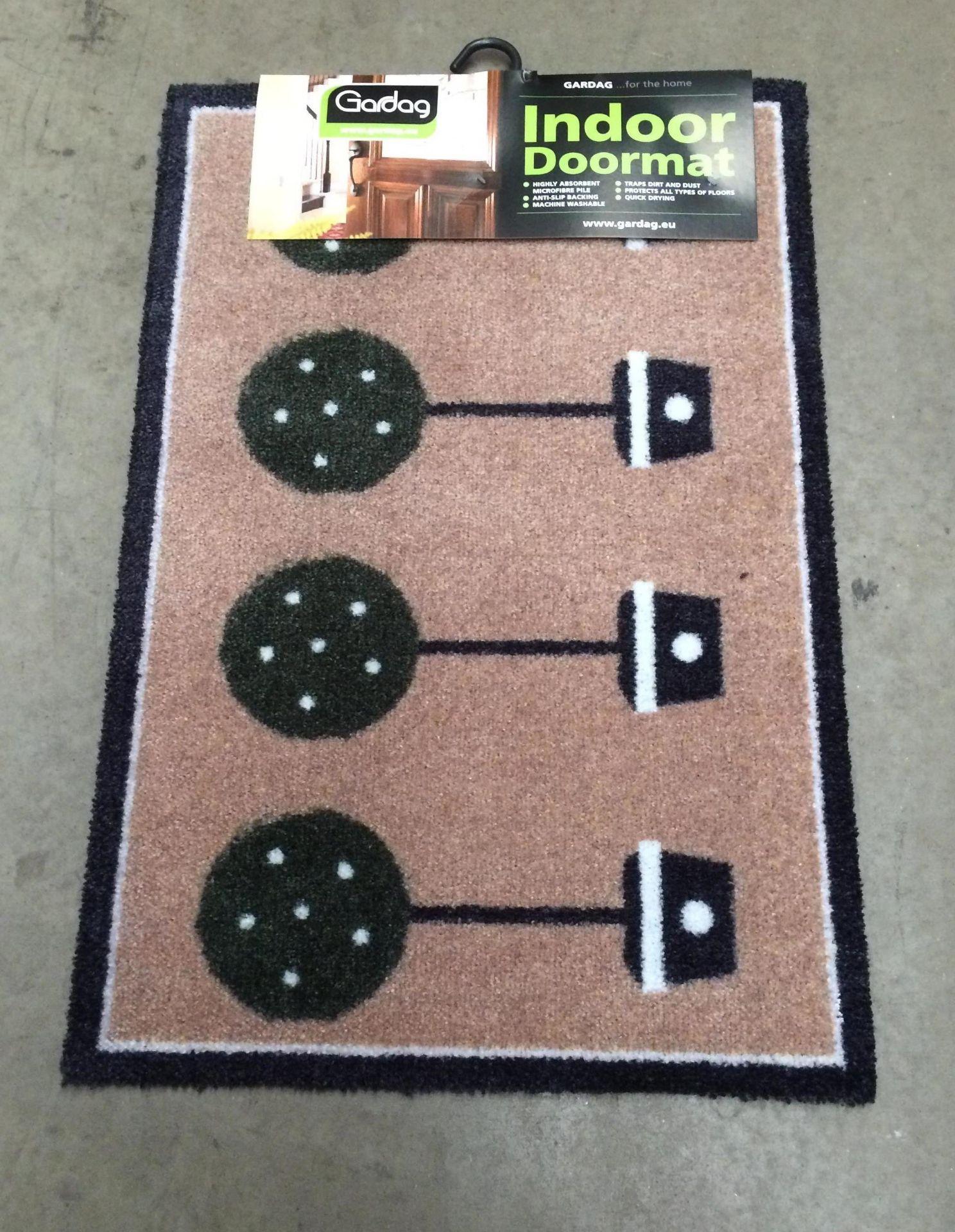 Lot 8 - 6 x Gardag Eco Flex designer topiary indoor door mats each 50 x 75cm