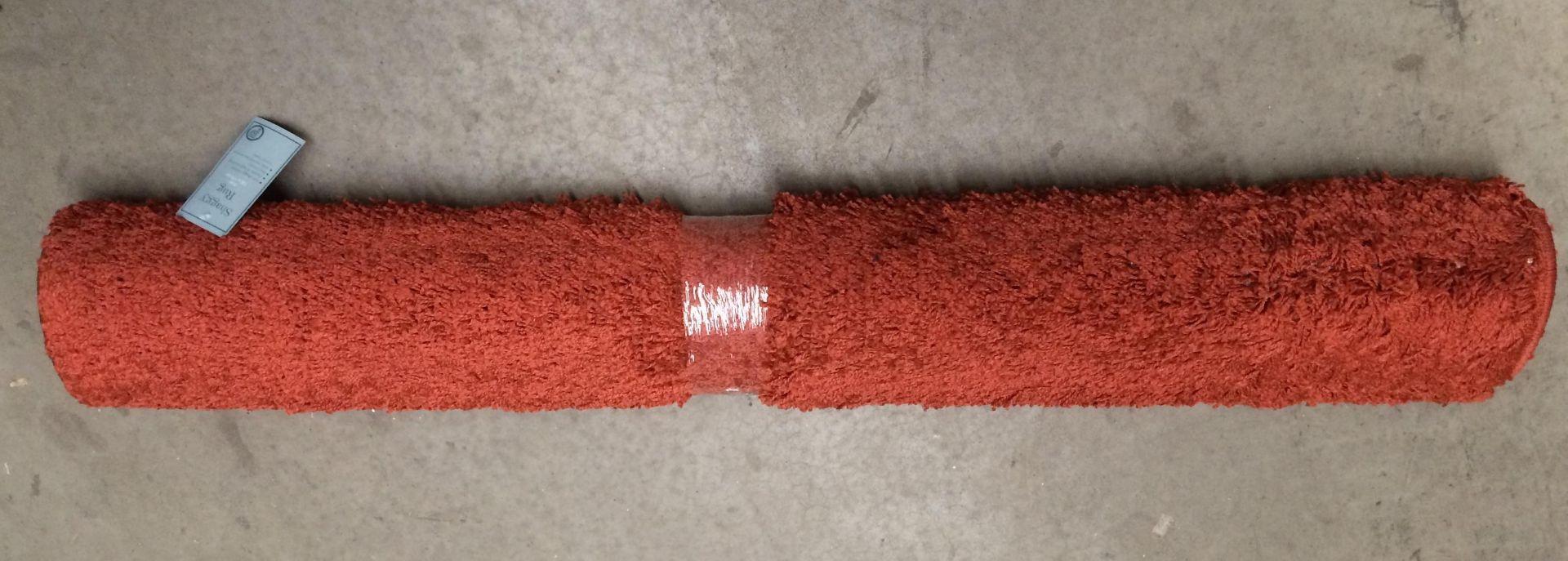 Lot 14 - 5 x shaggy rugs in rust each 120 x 170cm