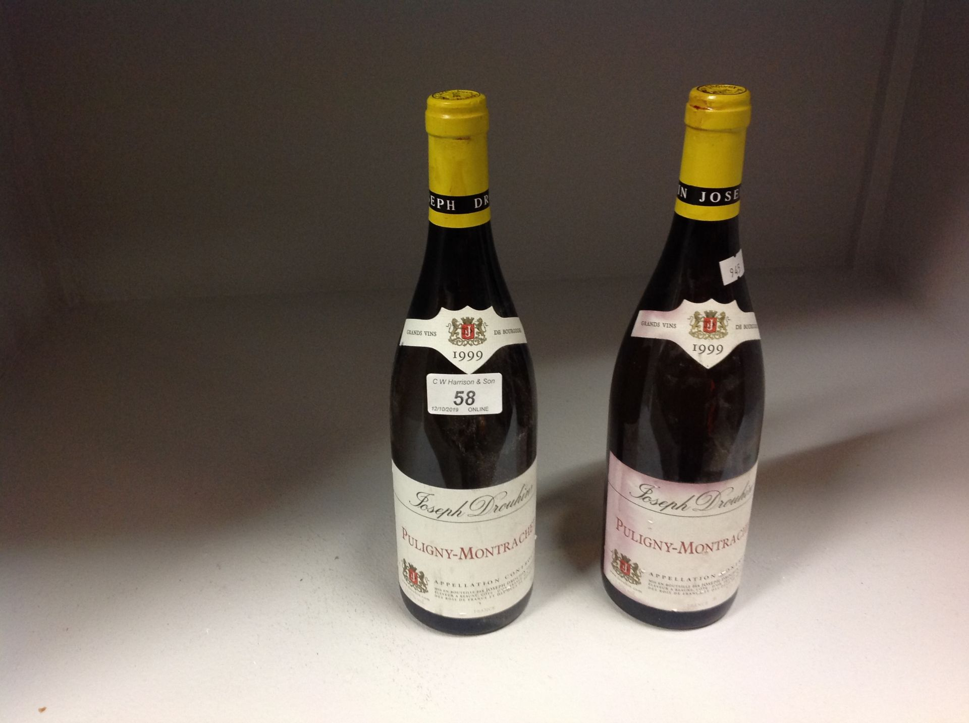 Lot 58 - 2 x 75cl bottles Joseph Drouhin Puligny