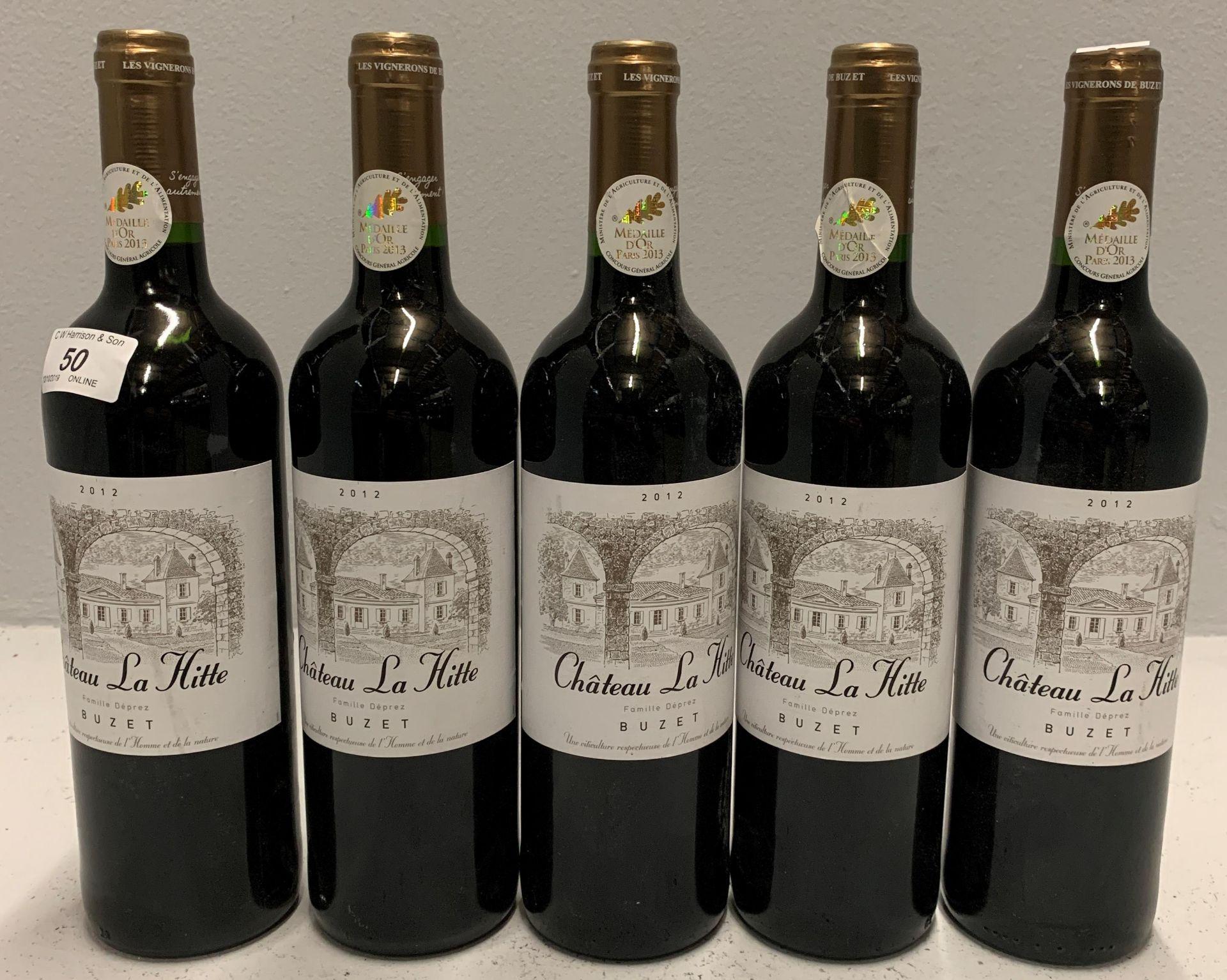 Lot 50 - 5 x 750ml bottles Chateau La Hitte - 201
