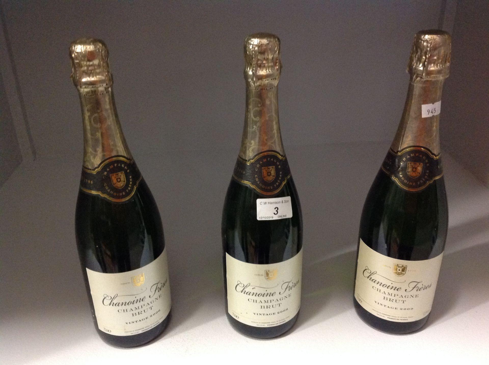 Lot 3 - 3 x 750ml bottles vintage 2007 Chanoine