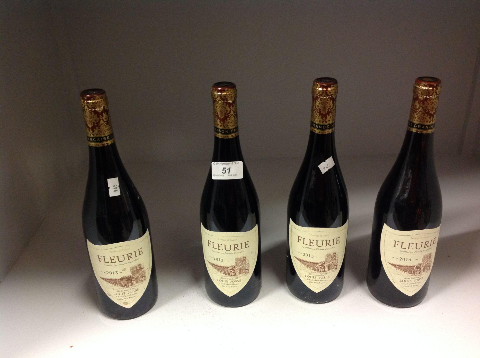 Lot 51 - 4 x 750ml bottles Louis Josse Fleurie
