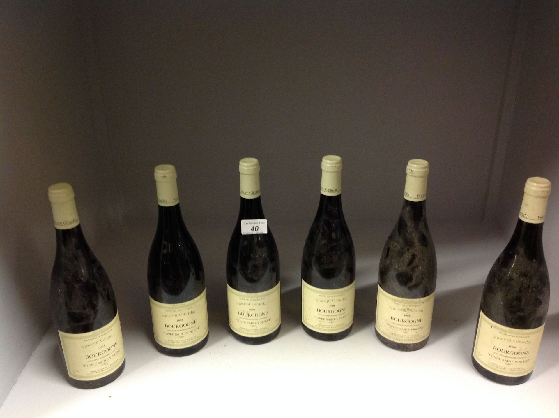 Lot 40 - 6 x 750ml bottles Vincent Girardin 1998