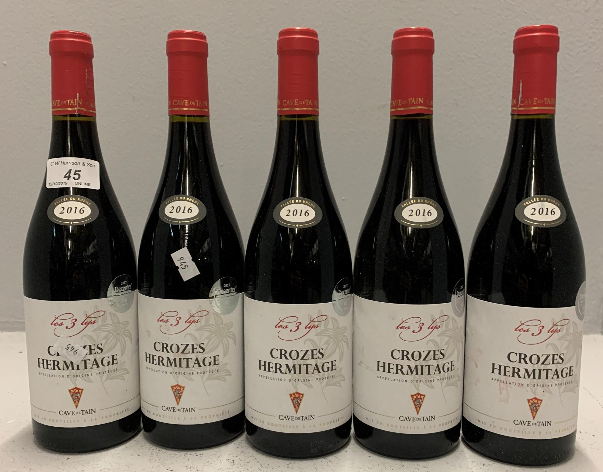 Lot 45 - 5 x 750ml bottles Crozes Hermitage - 201