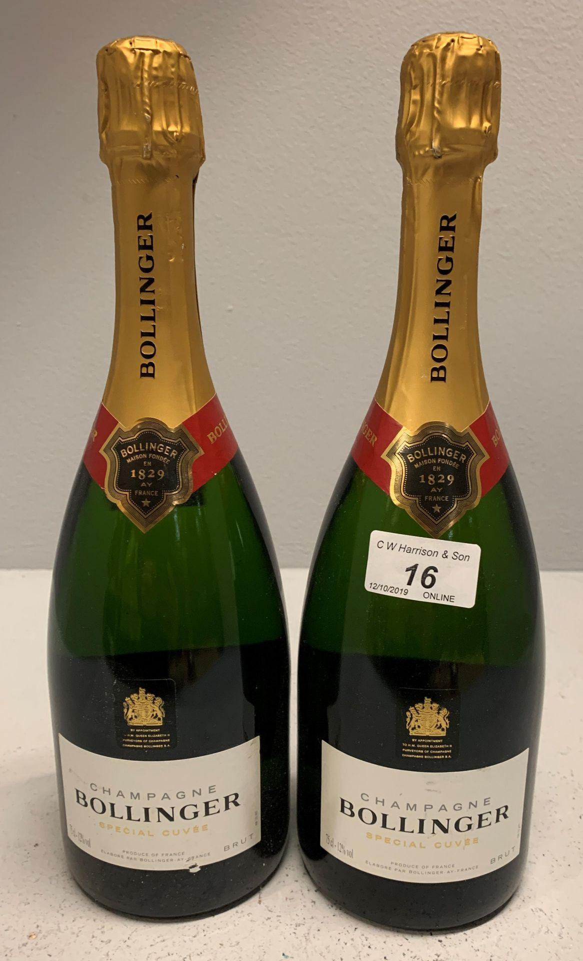 Lot 16 - 2 x 75cl bottles Bollinger Brut Special