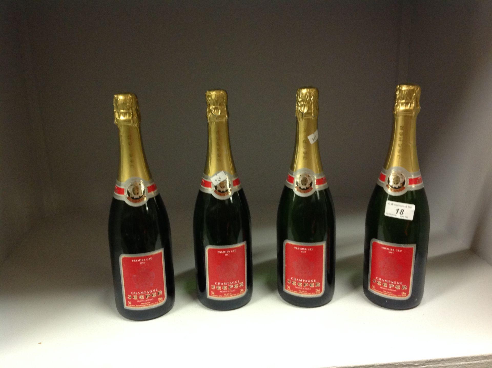 Lot 18 - 4 x 75cl bottles Premier Cru Brut Champa