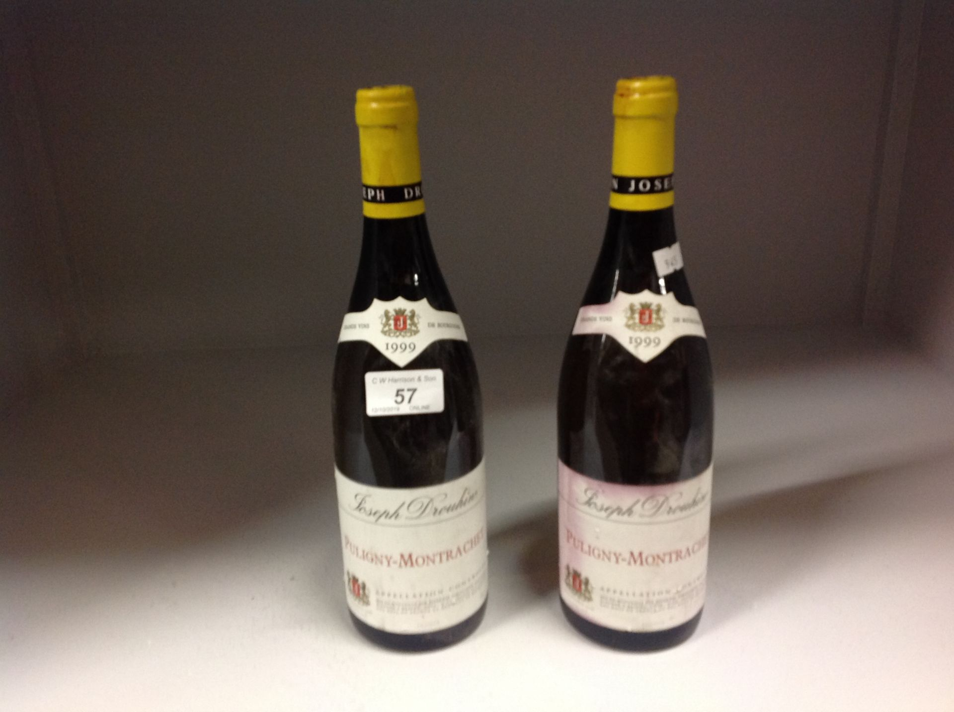Lot 57 - 2 x 75cl bottles Joseph Drouhin Puligny