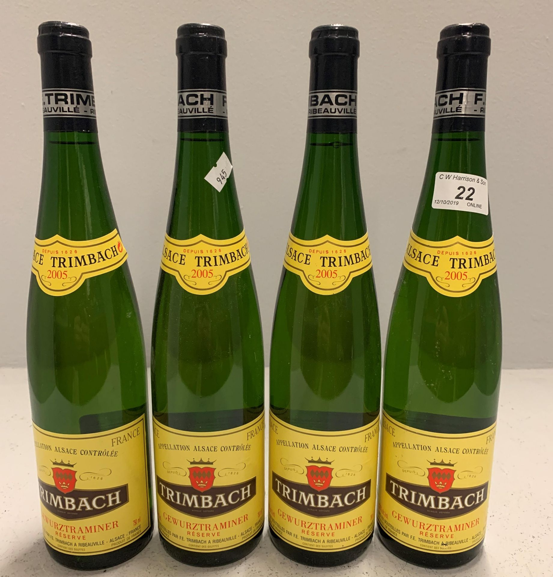 Lot 22 - 4 x 750ml bottles Trimbach Gewurztramine