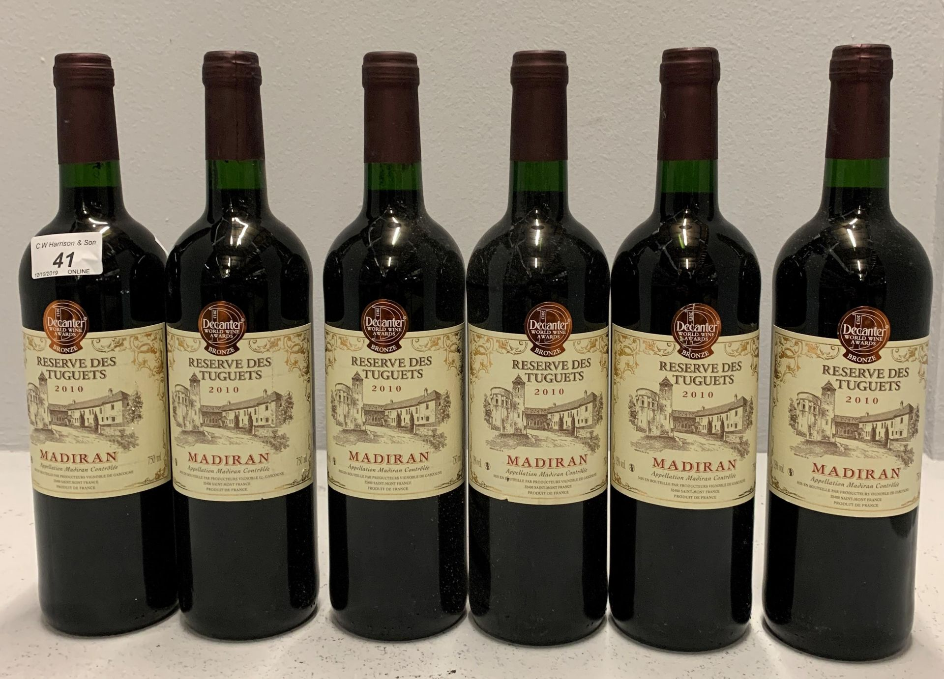 Lot 41 - 6 x 750ml bottles Reserve Des Tuguets 20