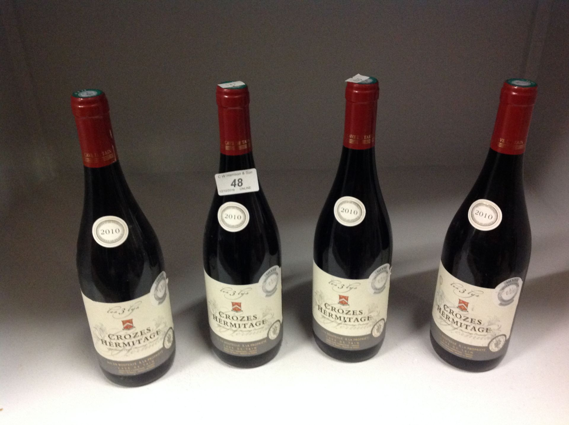 Lot 48 - 4 x 750ml bottles Crozes Hermitage - 201
