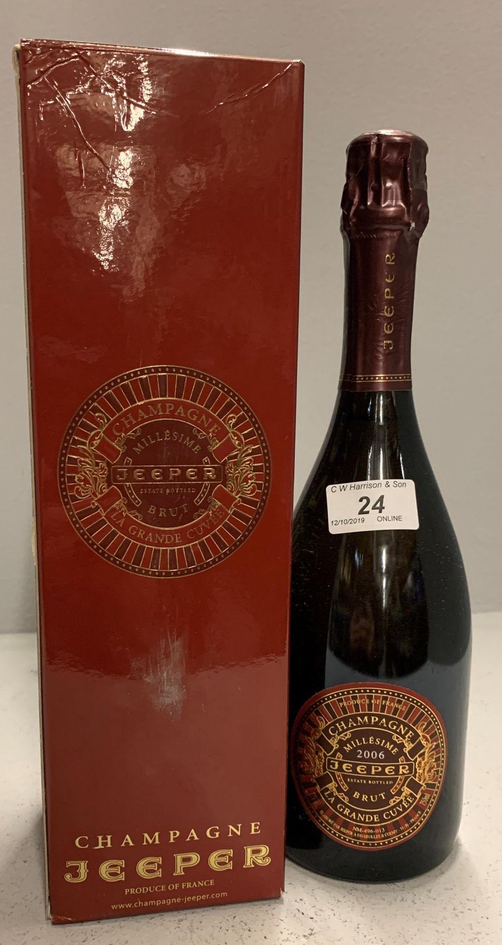 Lot 24 - 750ml bottle Jeeper LaGrande Cuvee Champ