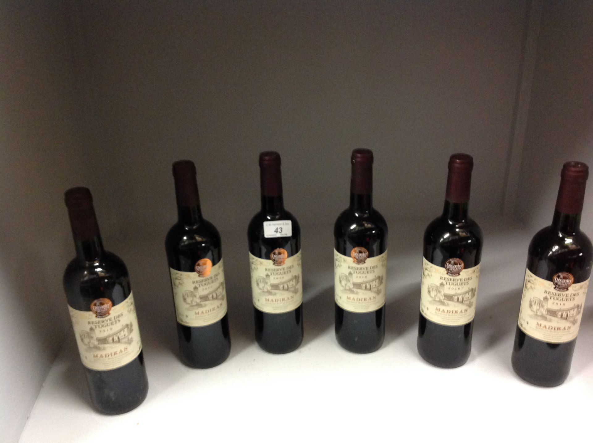 Lot 43 - 6 x 750ml bottles Reserve Des Tuguets 20