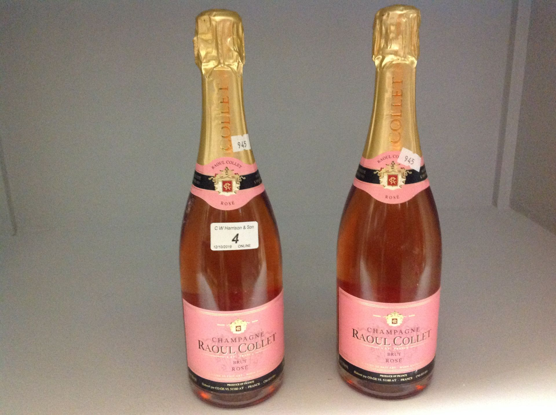 Lot 4 - 2 x 750ml bottles Raoul Collet Brut Rose