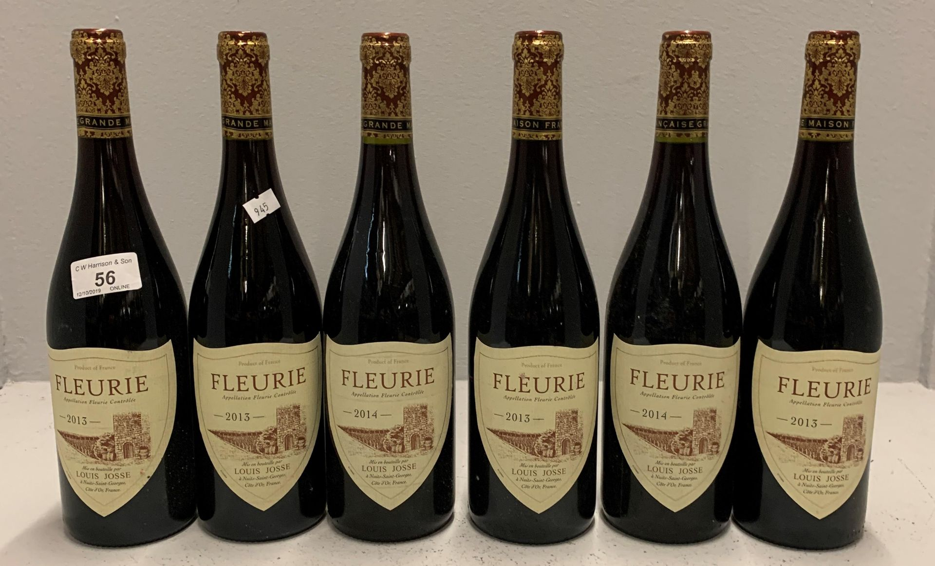 Lot 56 - 6 x 750ml bottles Louis Josse Fleurie