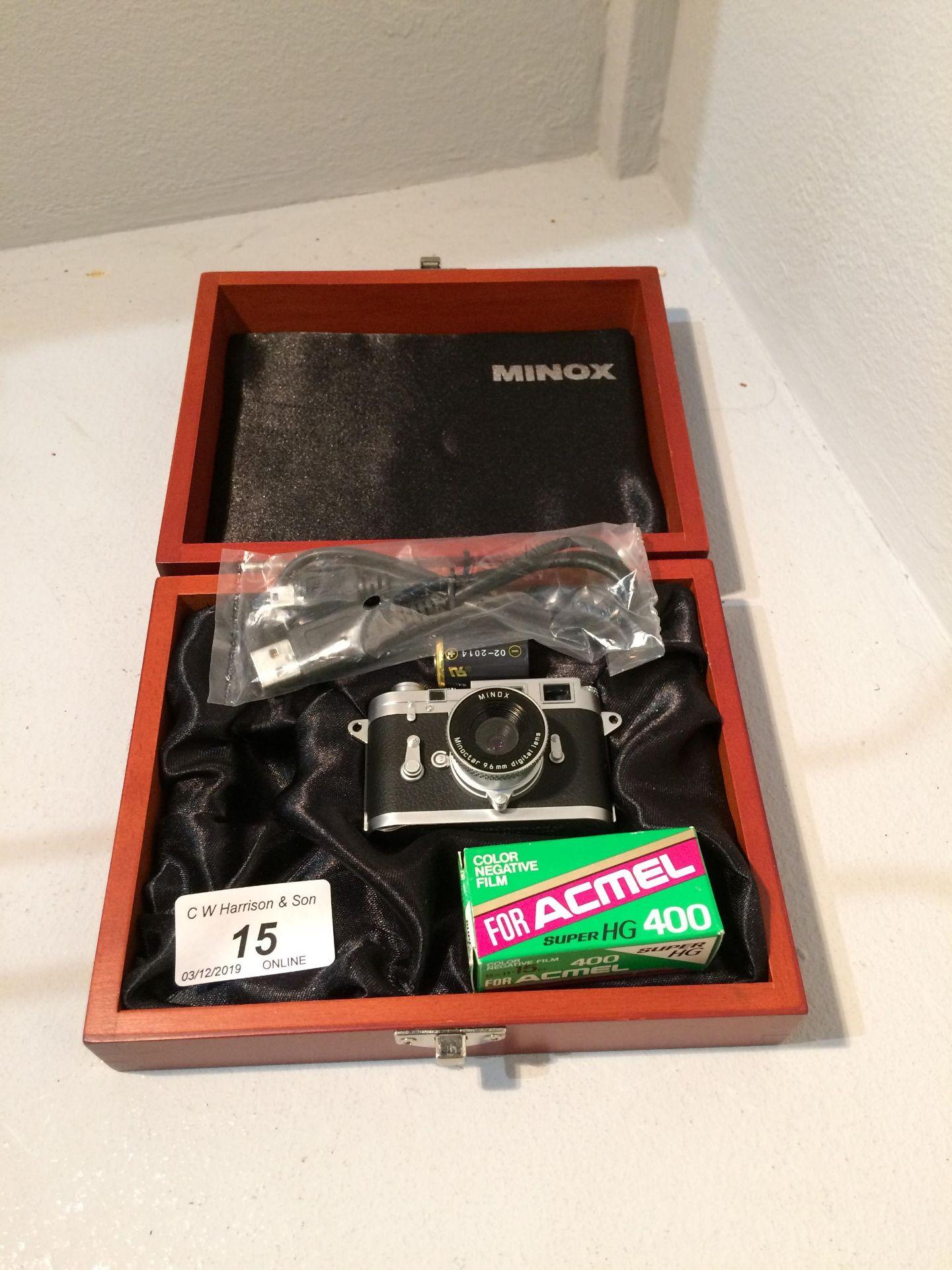 Lot 15 - Minox Camera Collections miniature Leica 8120099 camera, Minoctar 9.