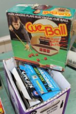 Lot 13 - Three electronic games including Alex Higgins cue ball