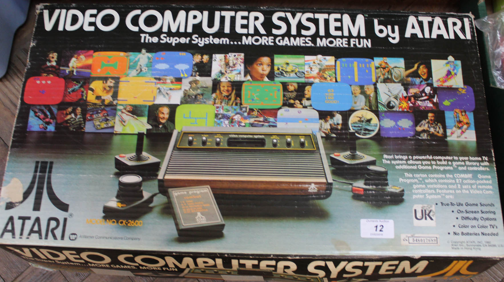 Lot 12 - A boxed Atari video computer system CX2600