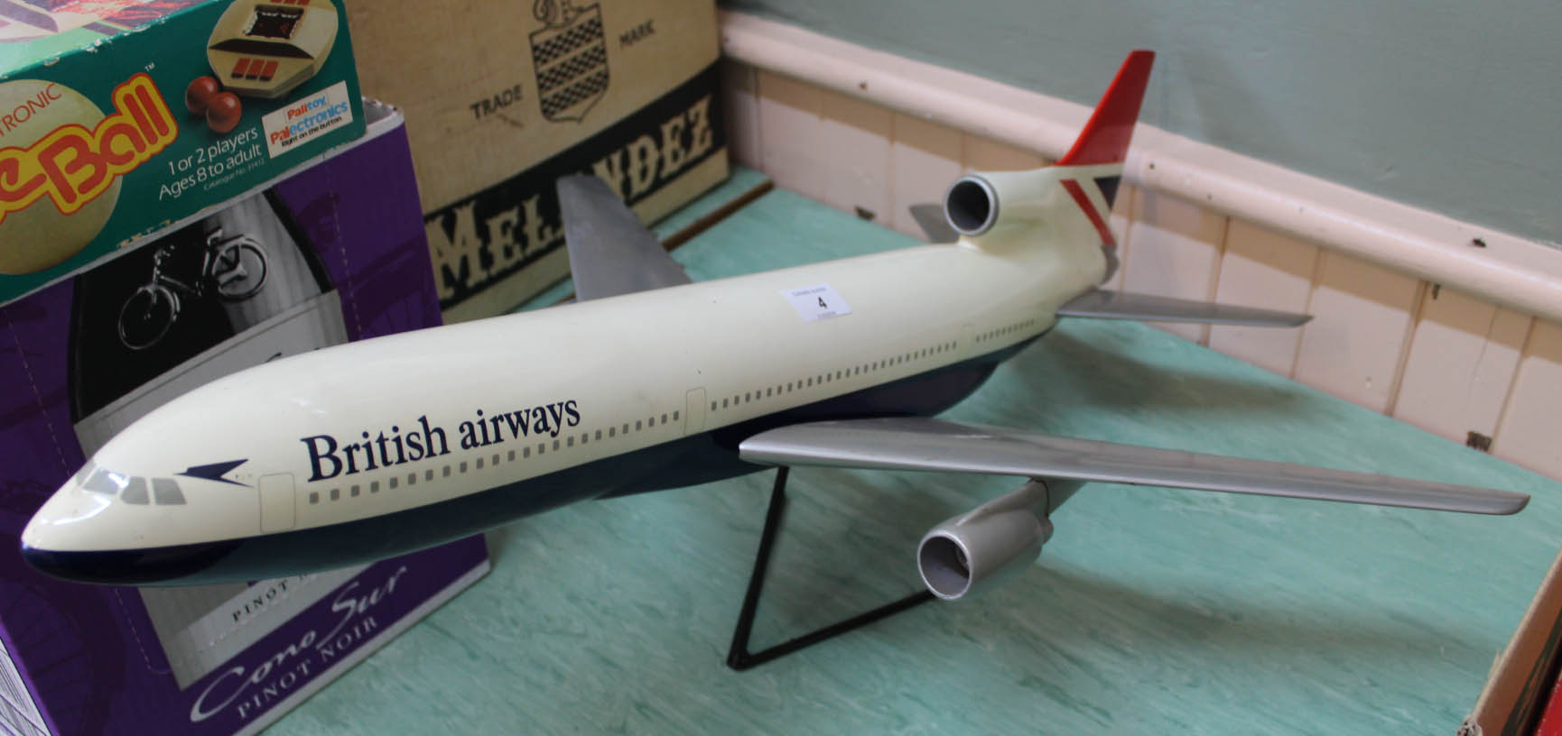 Lot 4 - A British Airways counter display model of a jet liner,