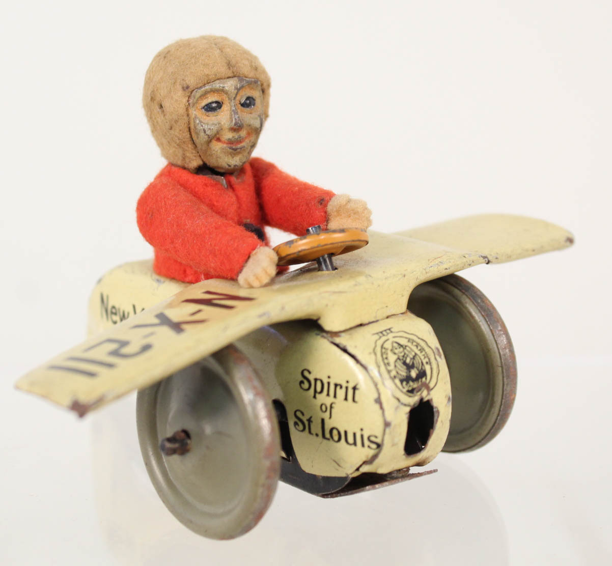 Lot 58 - A Schuco clockwork Spirit of St Louis plane with pilot