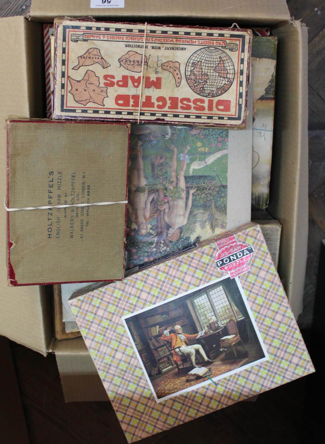 Lot 56 - Vintage wooden jigsaws including Holtzapffels,