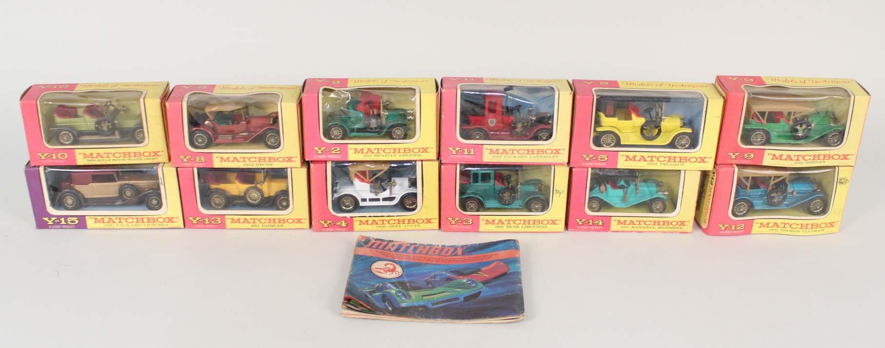 Lot 42 - Twelve boxed Matchbox Models of Yesteryear,