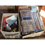 Lot 42 - Boxed and unboxed military figures plus die cast models (two boxes)