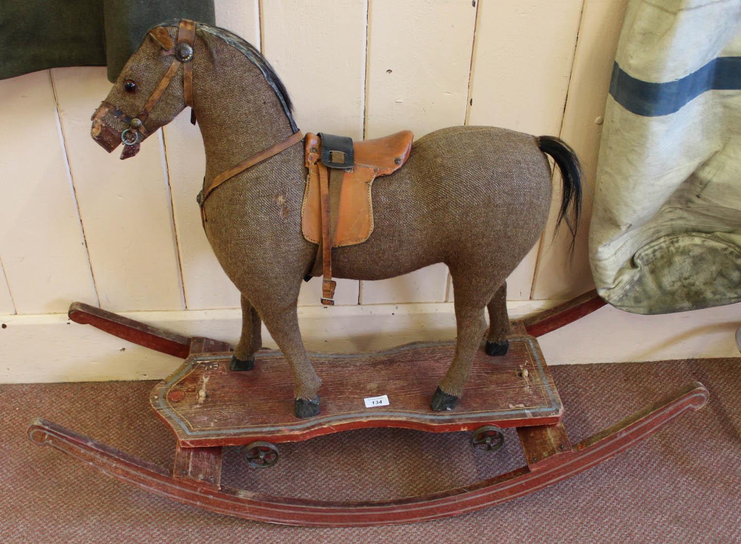 Lot 134 - A rocking horse
