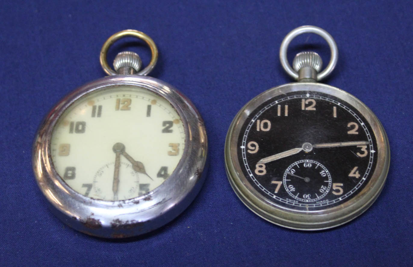 Lot 1191 - A General Service pocket watch with outer cover with a WWI example