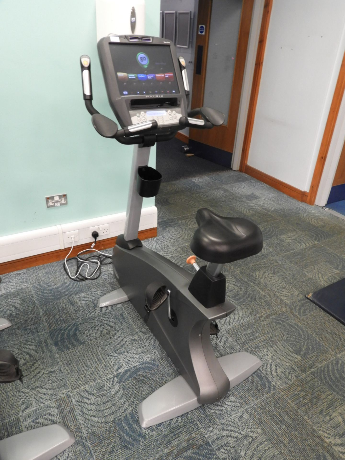 Lot 1 - *Matrix Exercise Bicycle with Touch Screen Digital