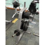 Lot 39 - *Olympic Weights on Rack; 2x 2.5kg, 4x 5kg, 2x 10k