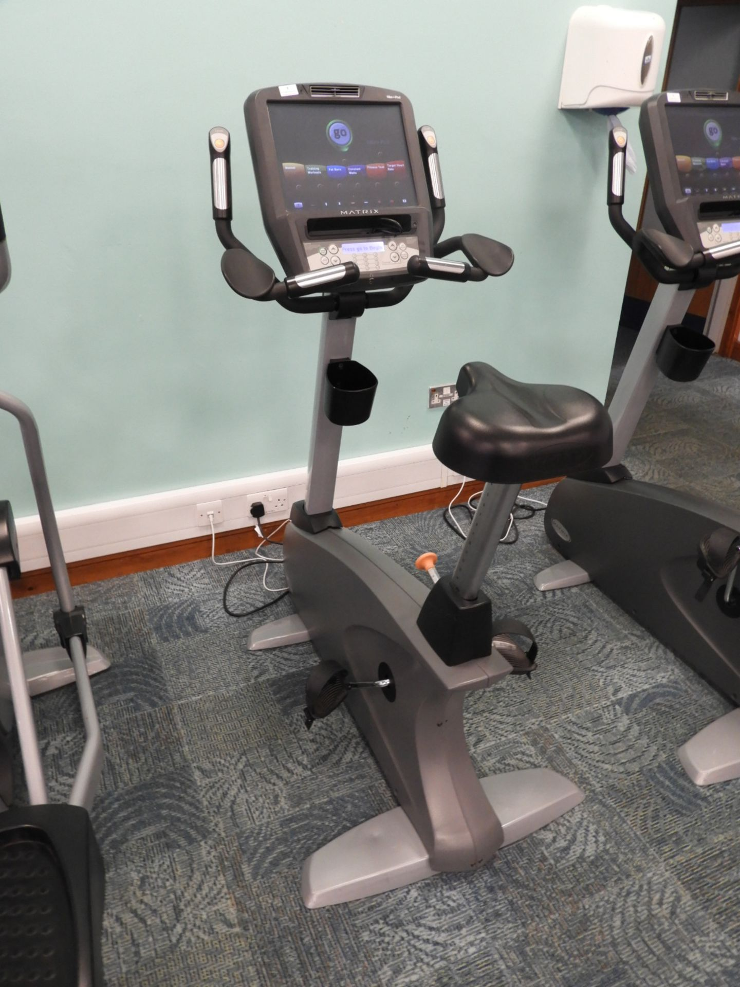 Lot 2 - *Matrix Exercise Bicycle with Touch Screen Digital