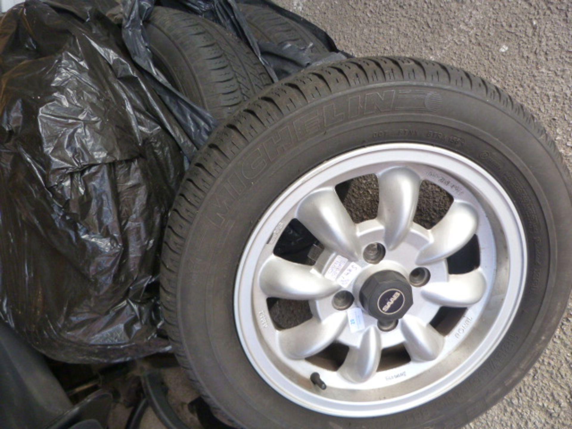 Lot 29 - Set of Four Saab 900 185/65R15 Tyres on Wheels