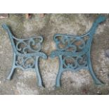 Lot 34 - Pair of Cast Iron Bench Ends