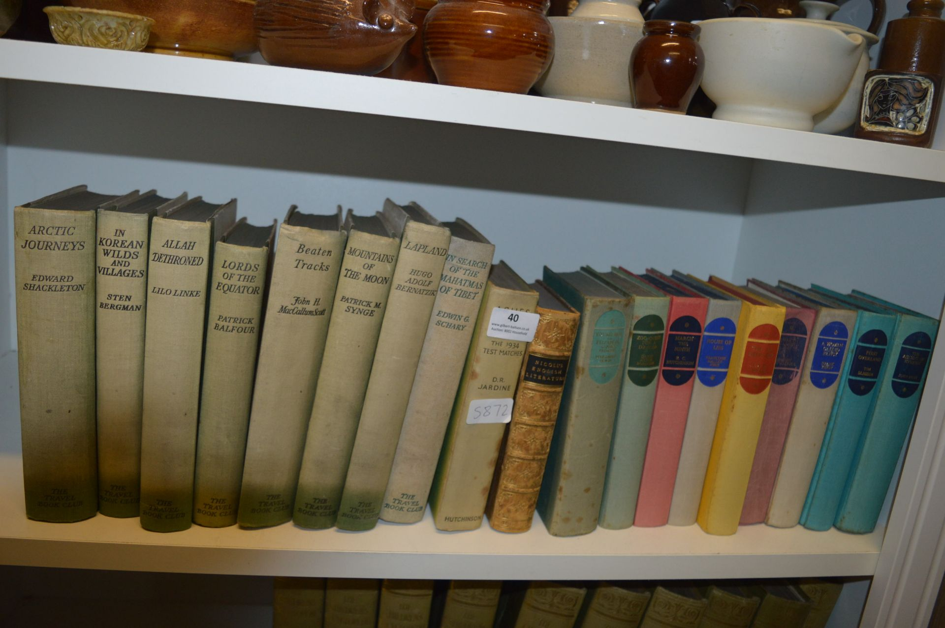 """Lot 40 - Nine Volumes of """"The Travel Book Club"""", Assorted H"""