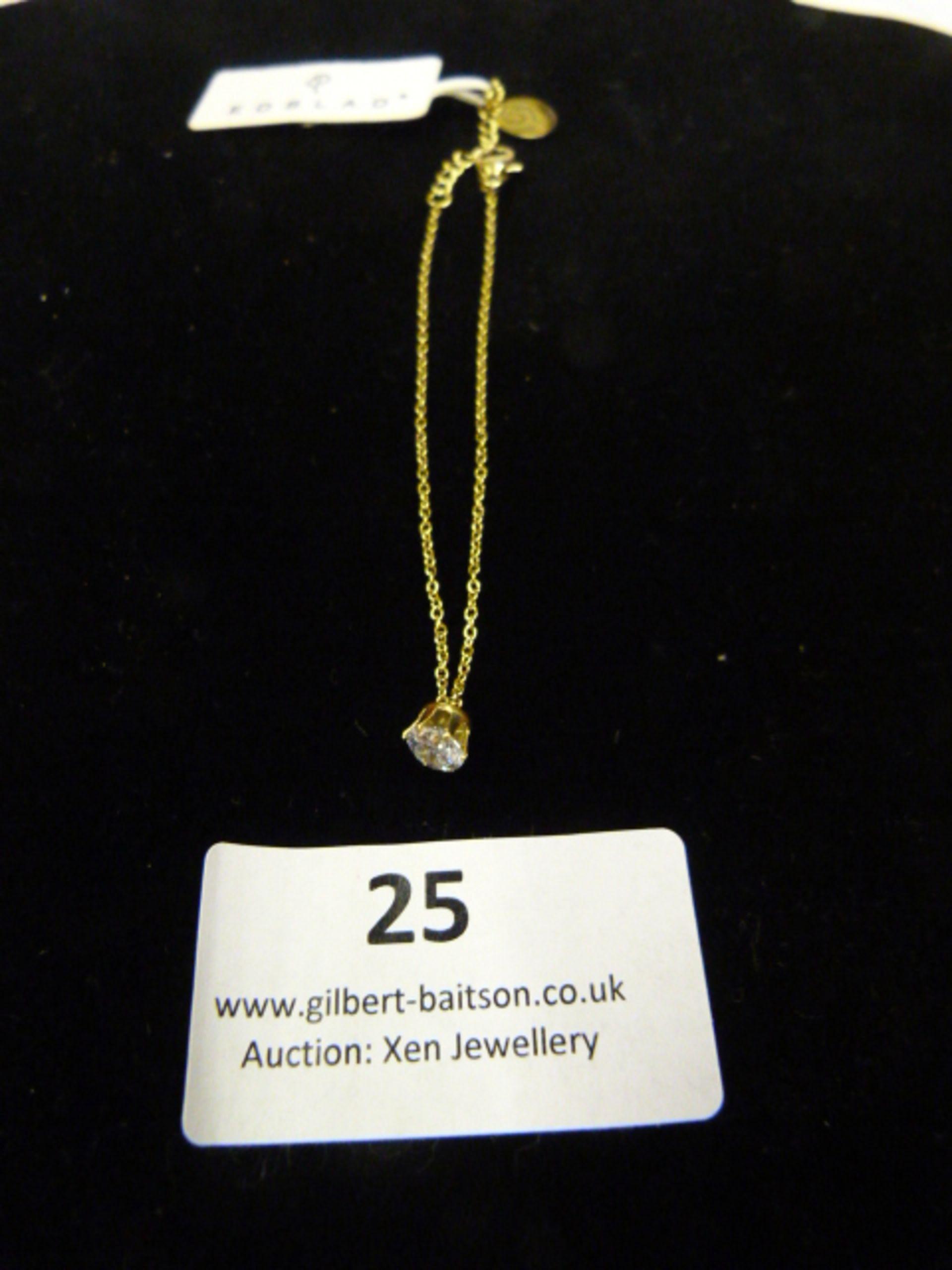 Lot 25 - *Edblad Gold Crown Bracelet