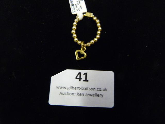 Lot 41 - *Mini Gold Charm Ring