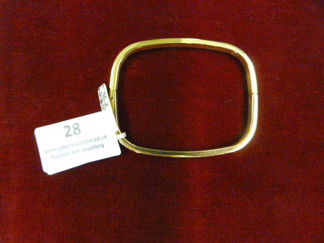Lot 28 - *Edblad Large 101 Bangle (Gold)