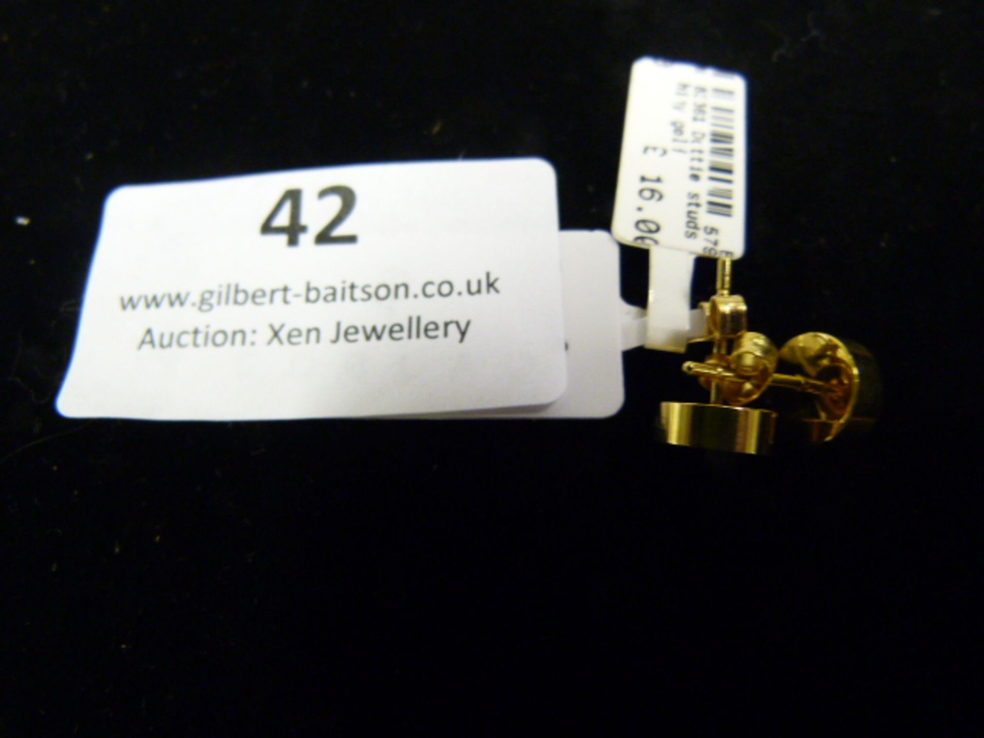 Lot 42 - *Pair of Dotty Studs (Shiny Gold)