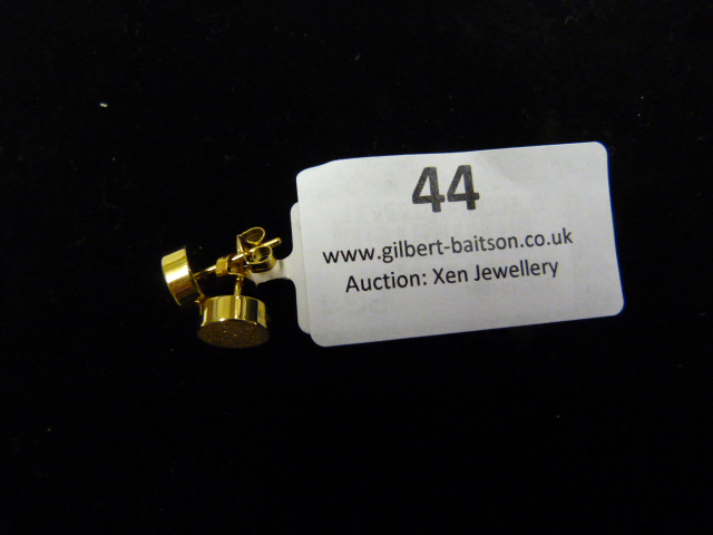 Lot 44 - *Pair of Dotty Studs (Shiny Gold)