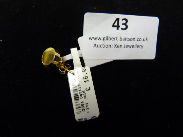 Lot 43 - *Pair of Dotty Studs (Shiny Gold)