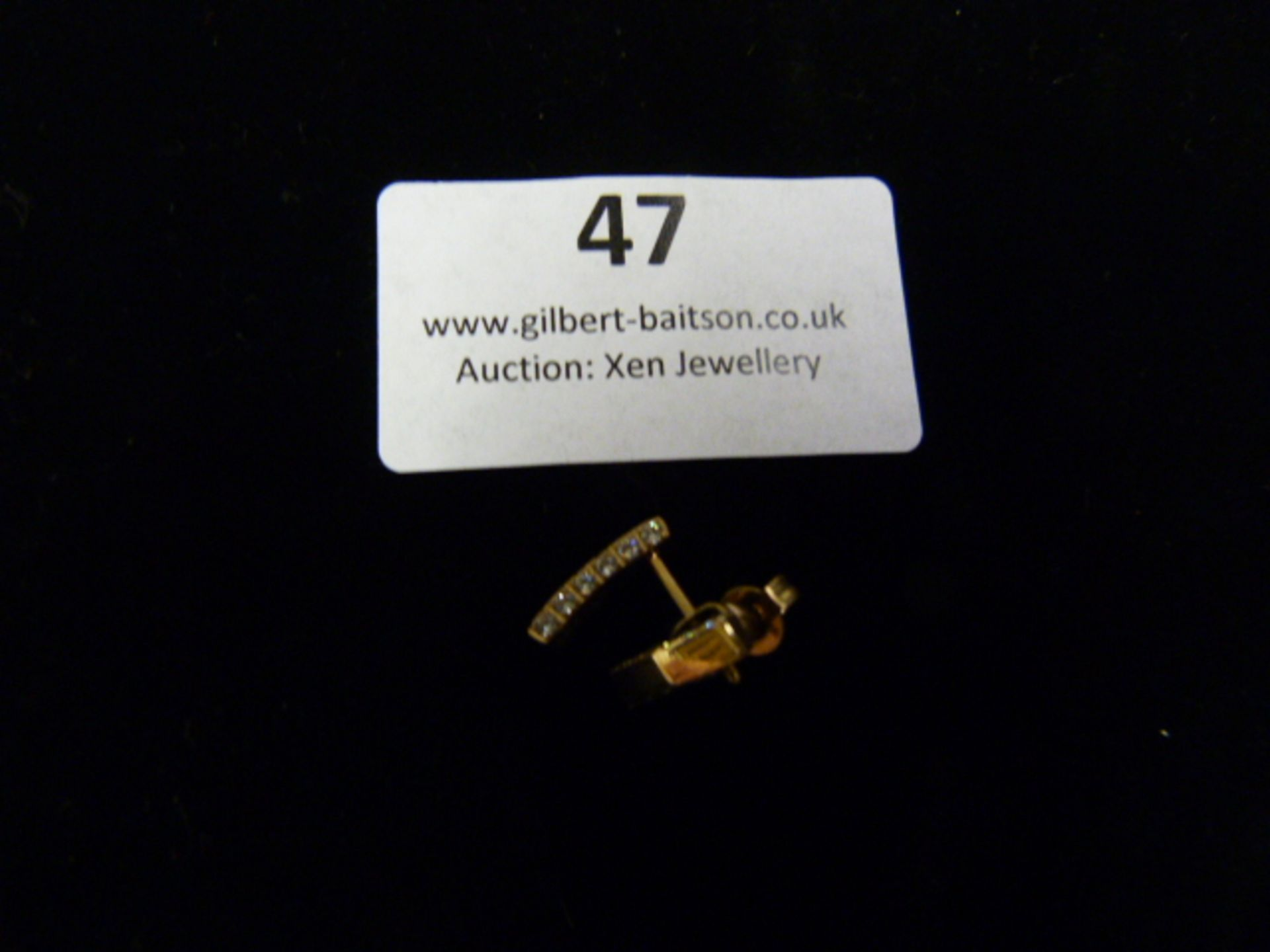 Lot 47 - *Pair of Rose Gold Earrings with CZ Studs