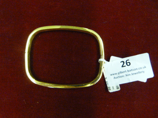 Lot 26 - *Edblad Large 101 Bangle (Gold)