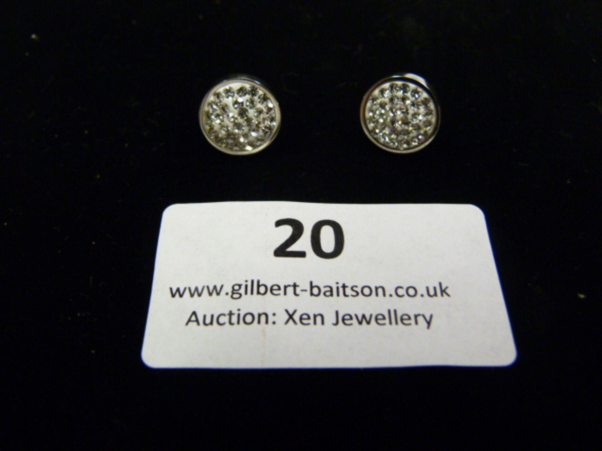 Lot 20 - *Pair of Coeur de Lion Round CZ Earrings